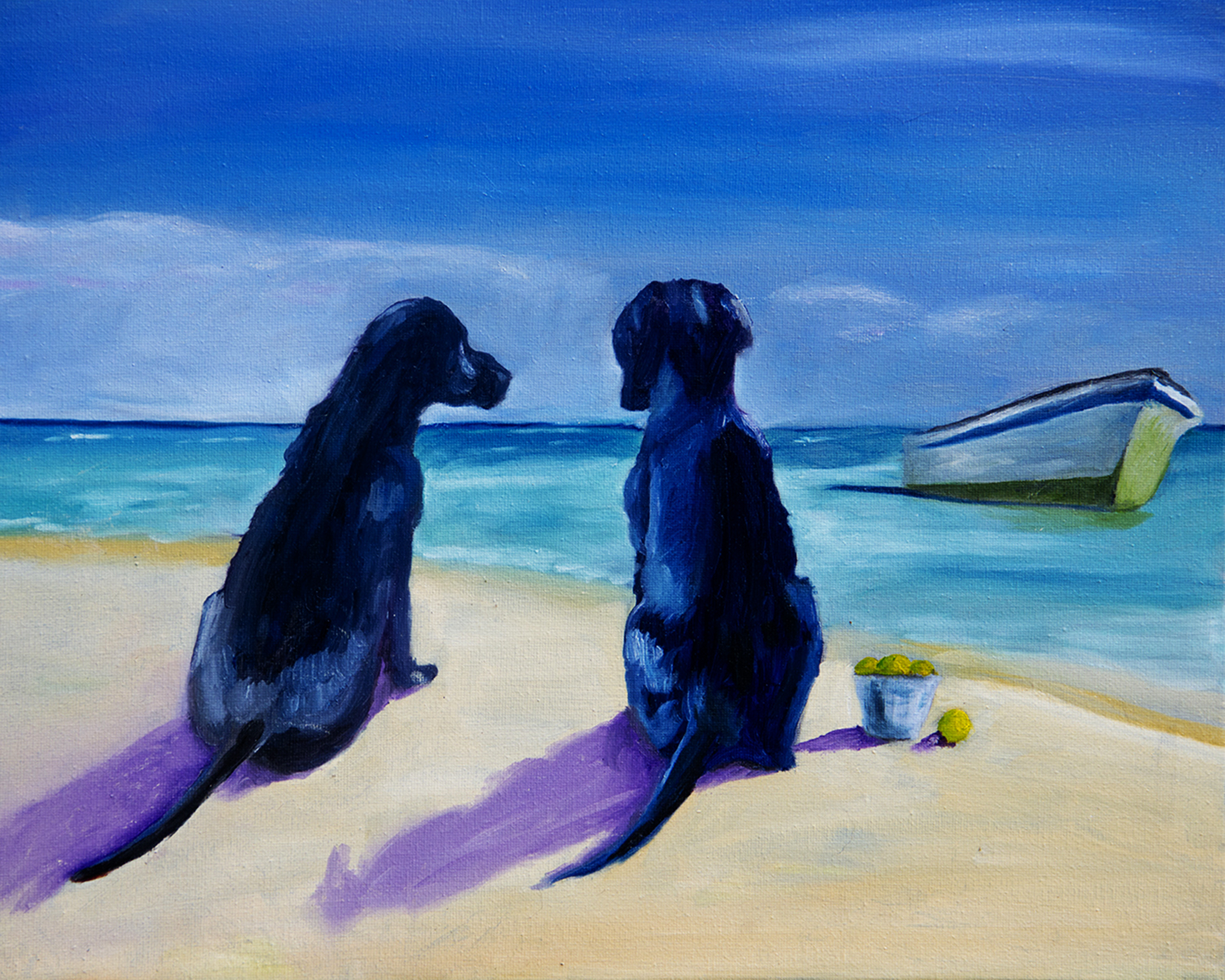 Beach Girls Oil Painting